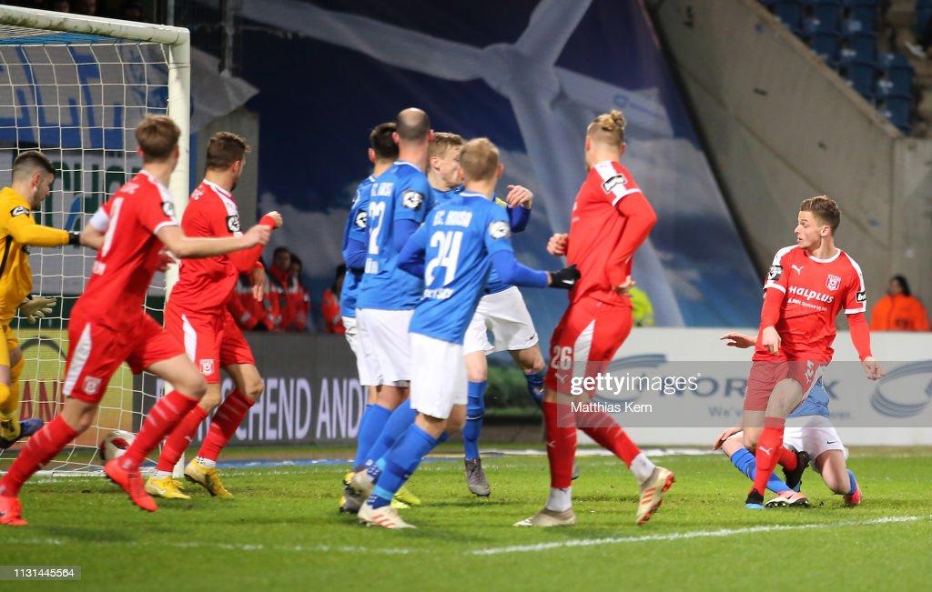 DEU: F.C. Hansa Rostock v Hallescher FC - 3. Liga