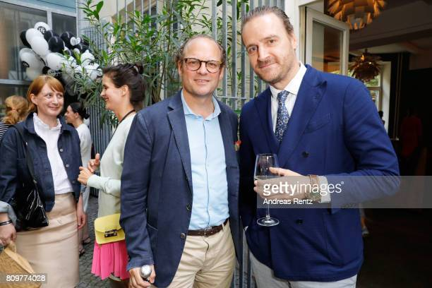 Moritz Laffert and John Cloppenburg attend the 'Designer for Tomorrow' after show reception during the MercedesBenz Fashion Week Berlin Spring/Summer...