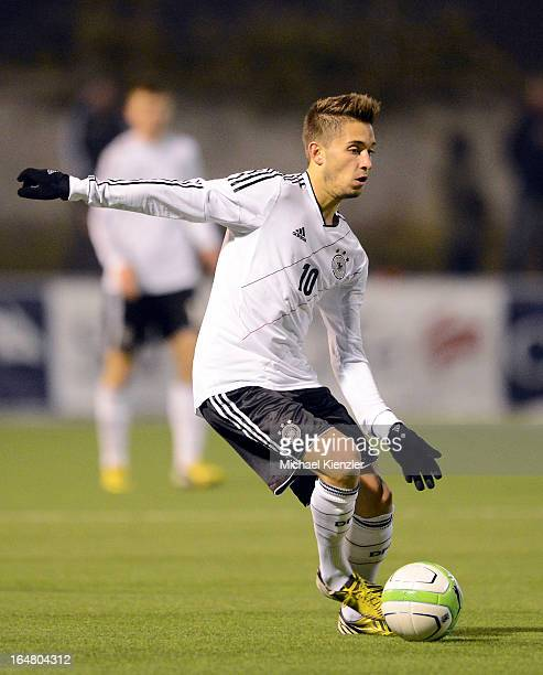 Moritz Leitner of Germany runs with the ball during the international friendly match between U20 Switzerland and U20 Germany at Eps Stadium on March...