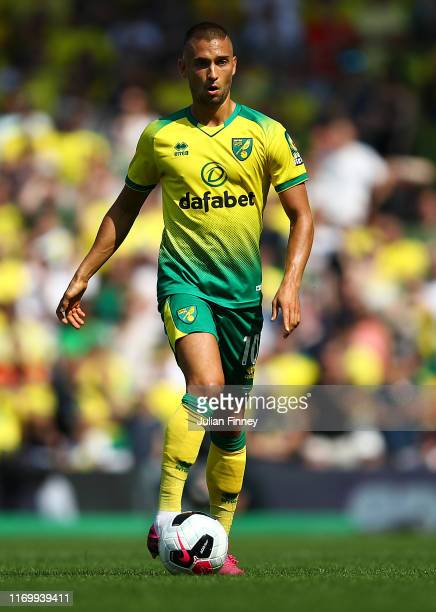 Moritz Leitner of Norwich in action during the Premier League match between Norwich City and Chelsea FC at Carrow Road on August 24, 2019 in Norwich,...
