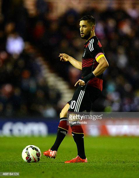 Moritz Leitnmer of Germany controls the ball during the international friendly between England Under 21 and Germany Under 21 at Riverside Stadium on...