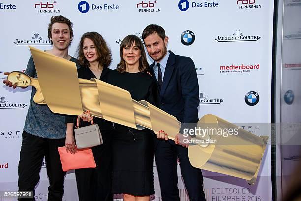Moritz Leu Paula Beer Anneke Kim Sarnau and Clemens Schick attend the nominee dinner for the German Film Award 2015 Lola on April 30 2016 in Berlin...