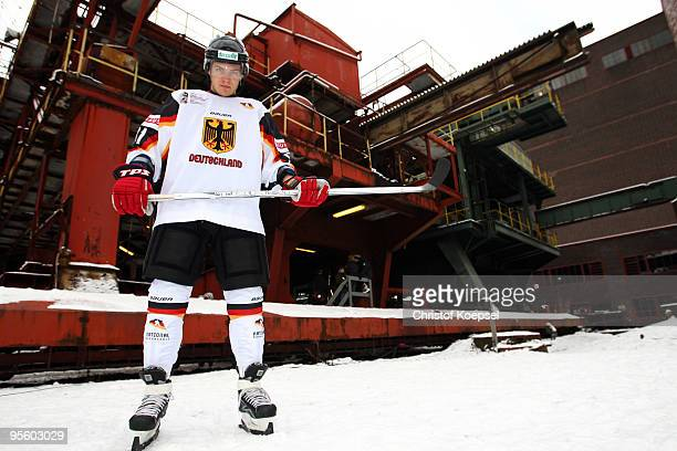 Moritz Mueller of Germany poses during a presentation day due to the IIHW World Championships at the Kokerei Zollverein on January 6 2010 in Essen...