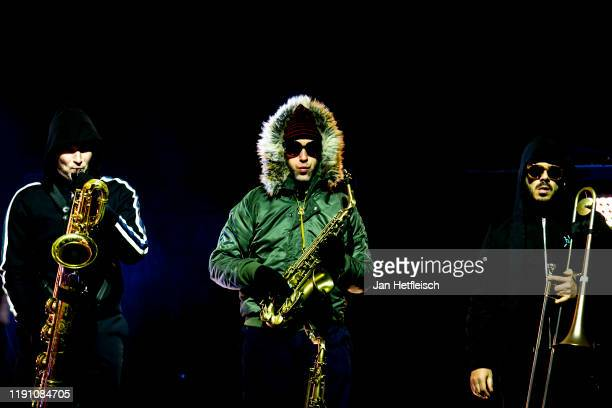 "Moritz Schumacher alias ""Mo Delgado"" performs live on stage during the ""Top Of The Mountain"" concert on November 30, 2019 in Ischgl, Austria."