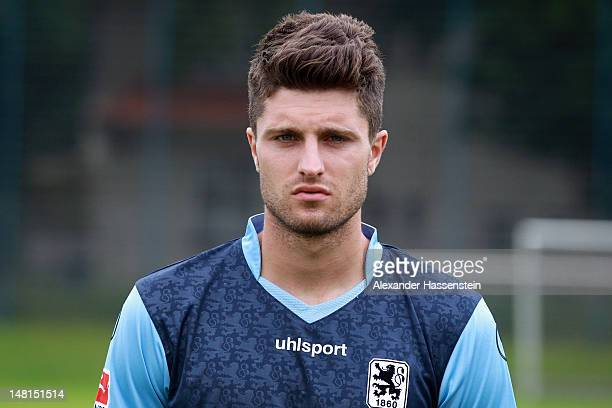 Moritz Stoppelkamp of 1860 Muenchen poses during the Second Bundesliga team presentation of TSV 1860 Muenchen on July 11 2012 in Munich Germany