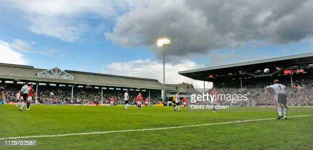 Moritz Volz takes a throw in Fulham v Manchester United at Craven Cottage Premier League 1st October 2005.