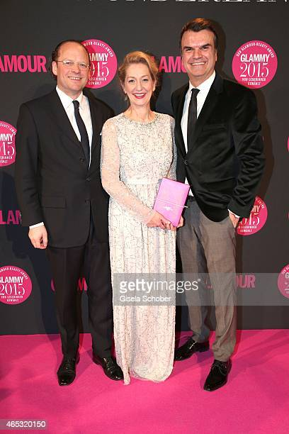 Moritz von Laffert, Publisher Conde Nast Germany, Editor in chief of Glamour, Andrea Ketterer, Andre Pollmann, Publisher GLAMOUR during the Glammy...