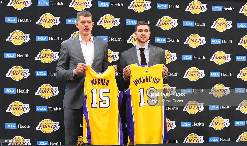 59f16e4afca Moritz Wagner and Sviatoslav Mykhailiuk of the Los Angeles Lakers ...