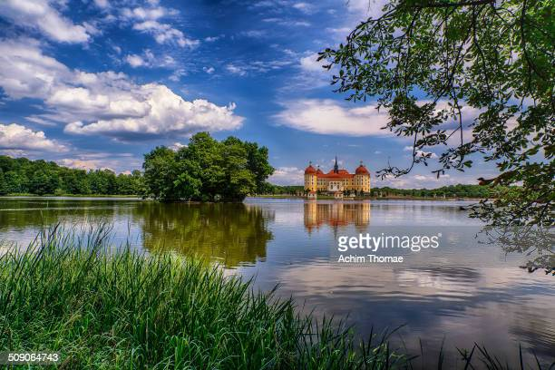 Moritzburg Castle is a Baroque palace in Moritzburg, in the German state of Saxony, about 13 kilometres northwest of the Saxon capital, Dresden. The...