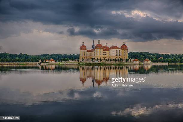 Schloss Moritzburg is a Baroque palace in Moritzburg in the German state of Saxony about 13 kilometres northwest of the Saxon capital Dresden