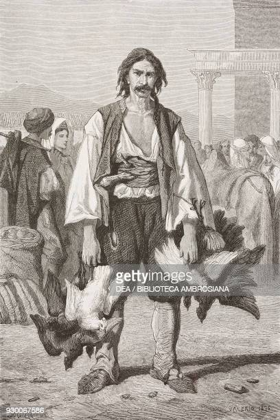 Morlak farmer from the Zadar district Croatia drawing by Theodore Valerio from a sketch by Yriarte from Dalmatia by Charles Yriarte from Il Giro del...