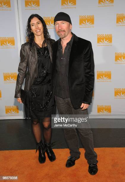 Morleigh Steinberg and musician The Edge of U2 attend the Food Bank for New York City's 8th Annual CanDo Awards dinner at Abigail Kirsch�s Pier Sixty...