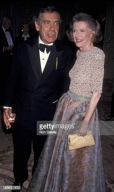 Morley Safer and Betty Furness attend Museum of Television and Radio Gala on June 18, 1990 at the Pierre Hotel in New York City.