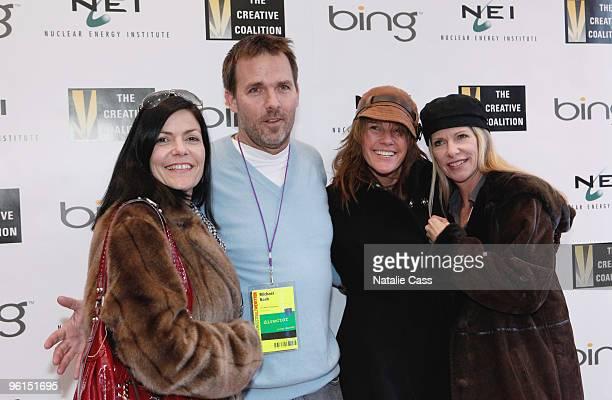 Mormauren Nash Director Michael Nash Blaze Nash and Maribeth Nash attend the Climate Change Refugees panel during the 2010 Film Festival at Bing Bar...
