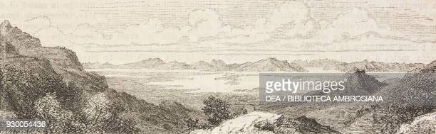 A Mormon camp United States of America drawing by FrancoisFortune Ferogio from a sketch by Stansbury and Jules Remy from The City of the Saints among...