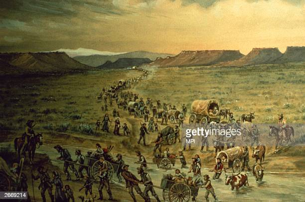 'Mormon Party near Fort Bridger' by W H Jackson