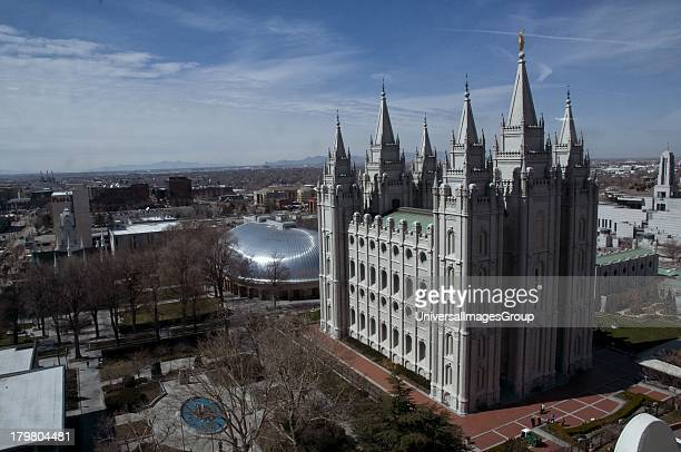 Mormon Temple and Tabernacle Temple Square Salt Lake City Utah