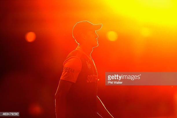 Morne Morkel of South Africa during the 2015 ICC Cricket World Cup match between South Africa and Zimbabwe at Seddon Park on February 15 2015 in...