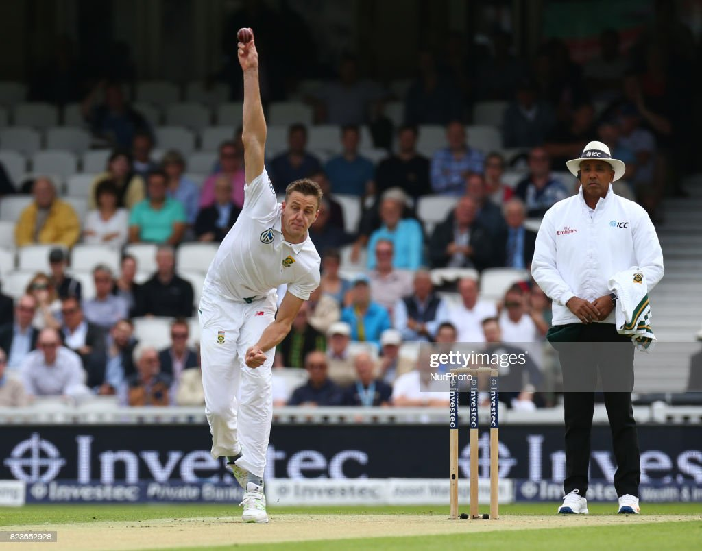 Morne Morkel of South Africa during the International Test Match Series Day One match between England and South Africa at The Kia Oval Ground in London on July 27, 2017