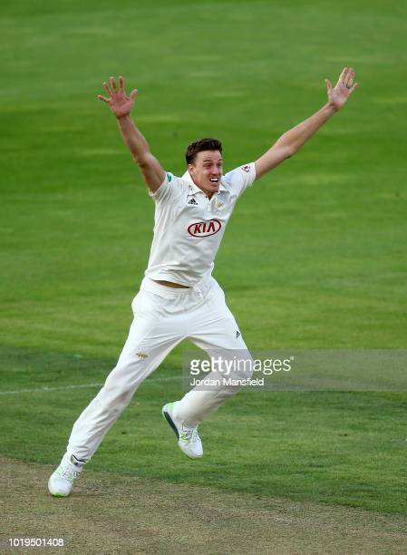 Morne Morkel of Surrey appeals unsuccessfully during day one of the Specsavers County Championship Division One match between Surrey and Lancashire...