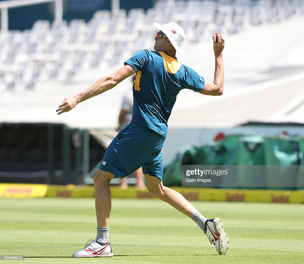 Morne Morkel of the Proteas during the South African national cricket team training session at PPC Cement Newlands on January 01, 2016 in Cape Town, South Africa.