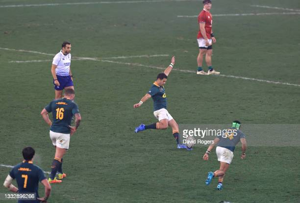 Morne Steyn of South Africa successfully kicks a penalty during the 3rd Test match between South Africa and British & Irish Lions at Cape Town...