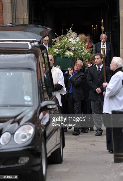 Morners Attending the Funeral of Christopher Cazanove on April 16 2010 in London England