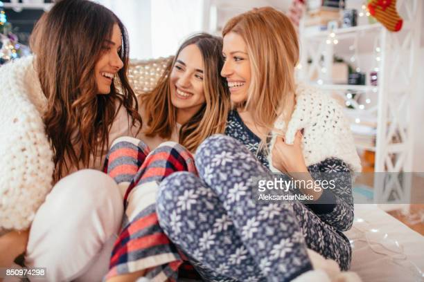 morning after christmas eve - pajamas stock pictures, royalty-free photos & images
