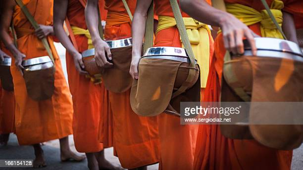 morning alms ceremony - ceremony stock pictures, royalty-free photos & images