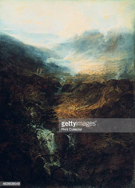 'Morning amongst the Coniston Fells Cumberland' 1798 From the Tate Gallery London