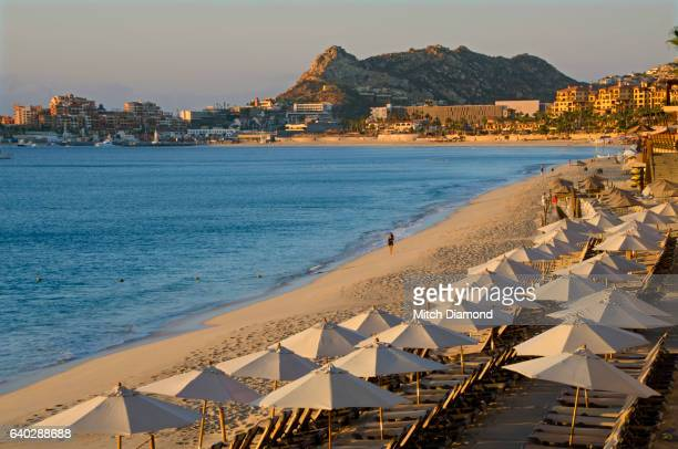 morning at cabo san lucas beach - cabo san lucas stock pictures, royalty-free photos & images