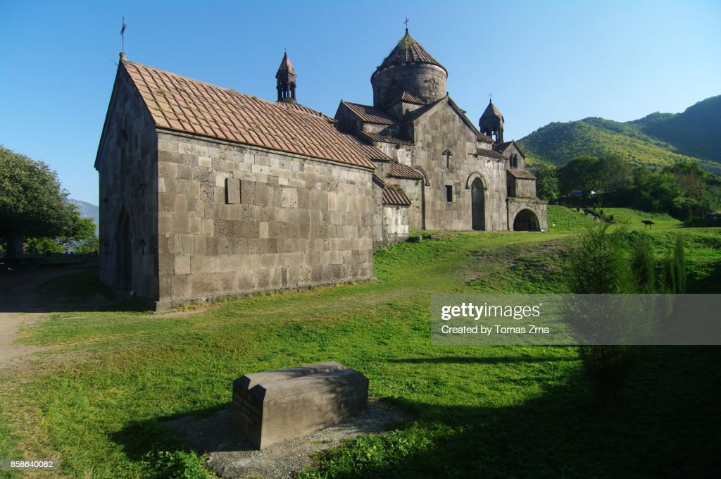 Morning at Haghpat monastery : Stock-Foto