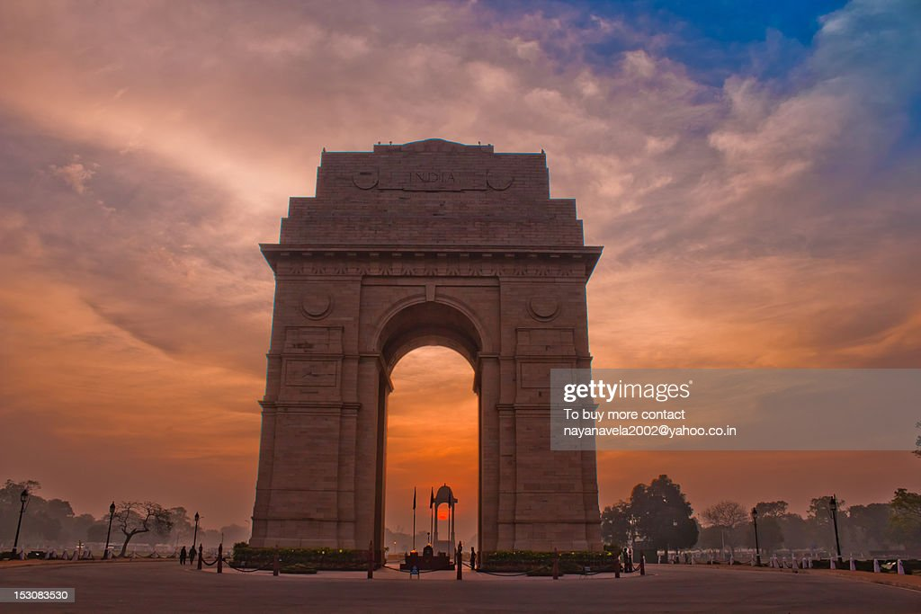 Morning at India Gate : Stock Photo