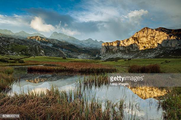 Morning at Lago Ercina in Picos de Europa Covadonga Spain