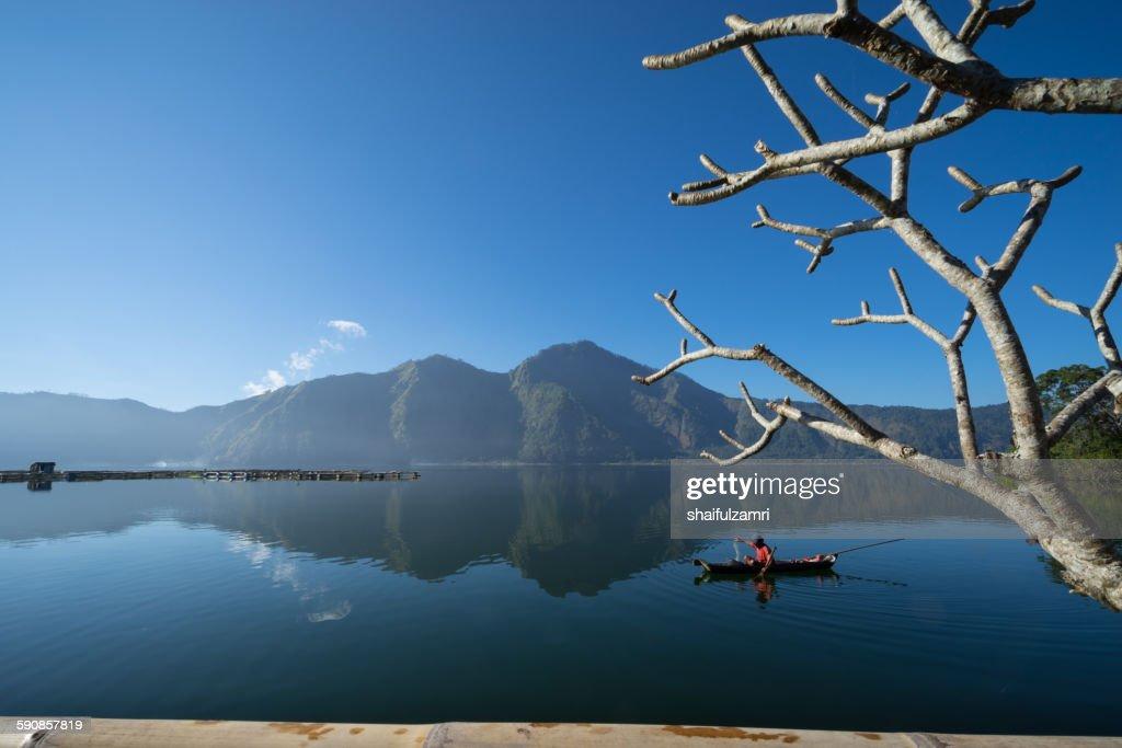 Morning at Lake Batur : Stock Photo