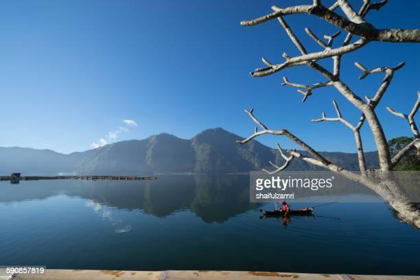 morning at lake batur - shaifulzamri stock pictures, royalty-free photos & images