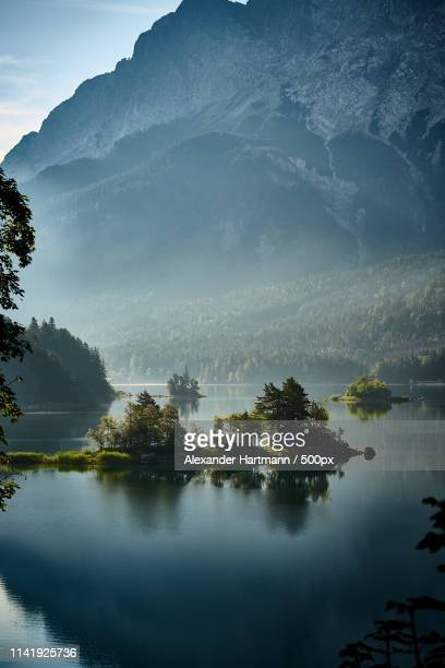 morning at lake eibsee - nature stock pictures, royalty-free photos & images