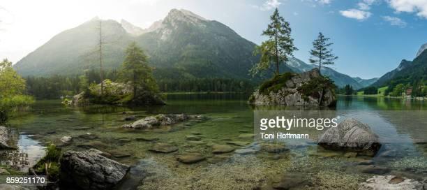 Morning at lake Hintersee, Ramsau
