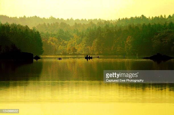 morning at lake massabesic in auburn - lake auburn - fotografias e filmes do acervo