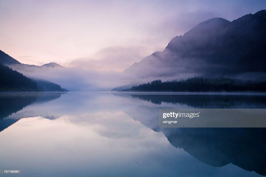 morning at lake plansee : Stock Photo