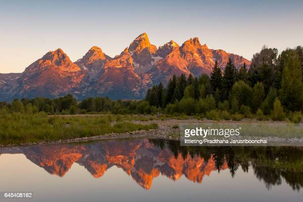 Morning at Schwabacher Landing, Grand Teton