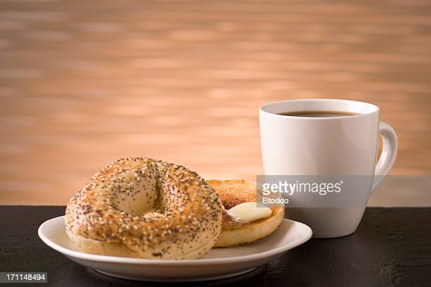morning beakfast - bagels stock pictures, royalty-free photos & images