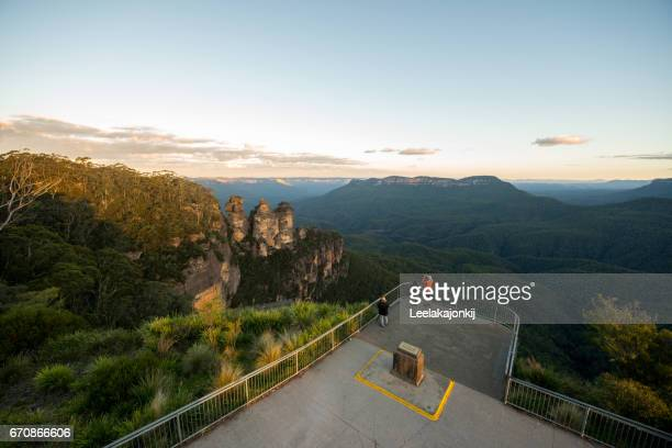 morning blue mountains national park - katoomba stock pictures, royalty-free photos & images