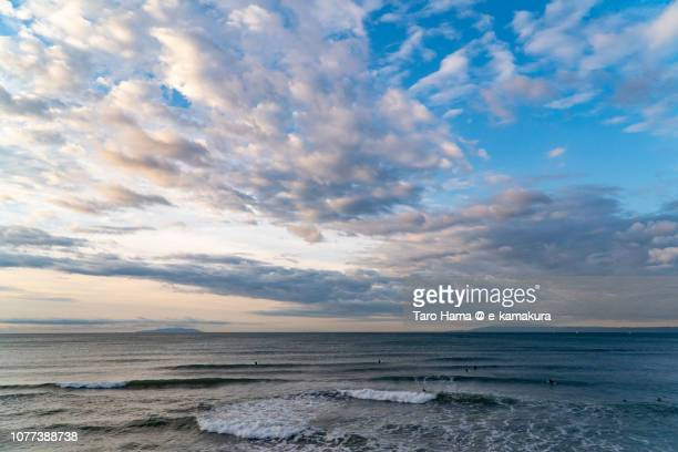 Morning blue sky on Sagami Bay, part of Pacific Ocean in Japan