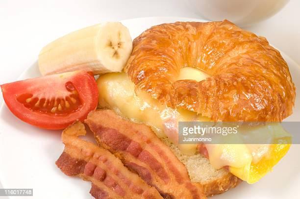 Petit déjeuner le matin
