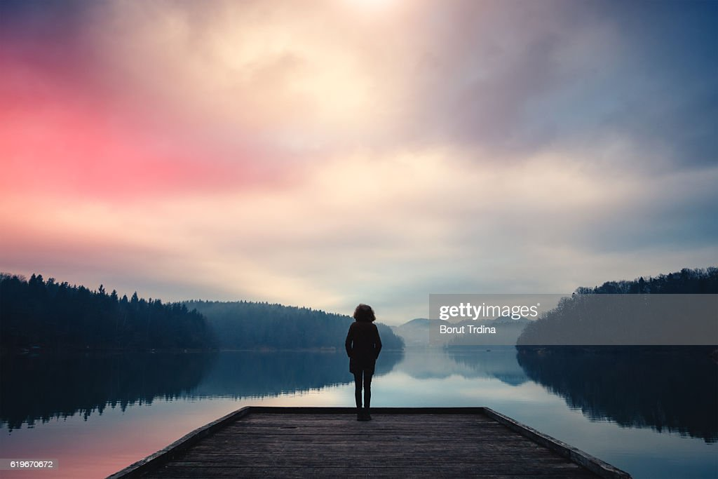 Morning By The Lake : Stock Photo