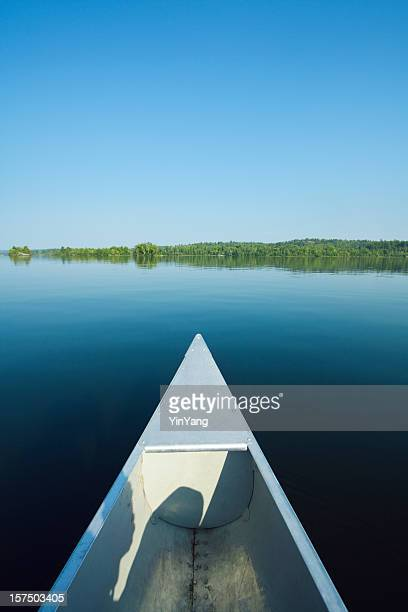 morning canoeing in boundary waters canoe area - boundary waters canoe area stock pictures, royalty-free photos & images