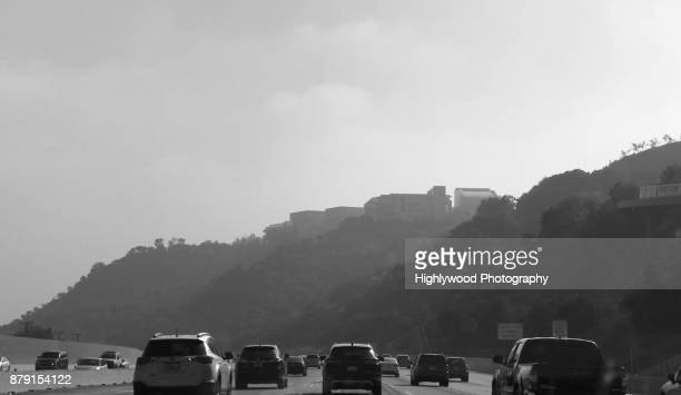 morning clouds and traffic over the 405 - highlywood stock pictures, royalty-free photos & images