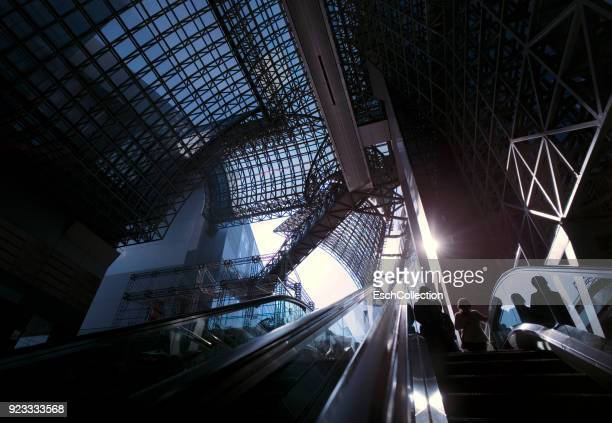 Morning commute at Kyoto station, Japan