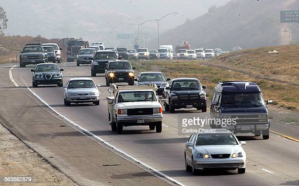 Morning commutors on Highway 23 in Thousand Oaks move slow as they approch the 101 Fwy but with an upcoming transportation tax measure in Ventura...